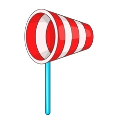 Supplies wind sock icon cartoon style vector