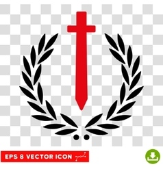 Sword Honor Embleme Eps Icon vector image