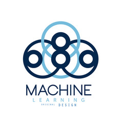 Symbol of machine learning computers and vector