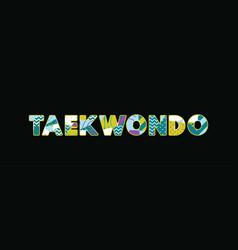 Taekwondo concept word art vector