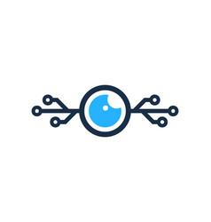 tech eye logo icon design vector image