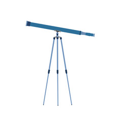 telescope icon astronomy science vector image vector image