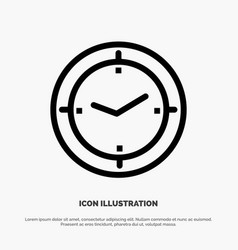 Time timer compass machine line icon vector