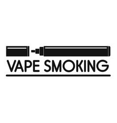vape smoking logo simple style vector image