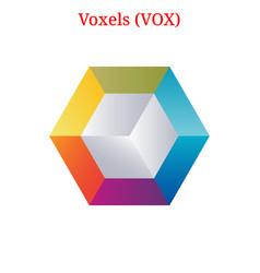 Voxels vox logo vector