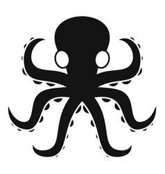wild octopus icon simple style vector image