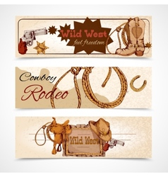 Wild west banners vector
