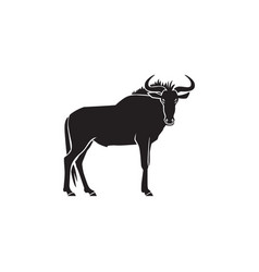 wildebeest logo sign on white vector image