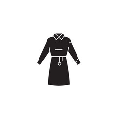 woman garment black concept icon woman vector image