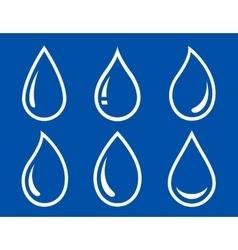 glossy water drops set vector image vector image