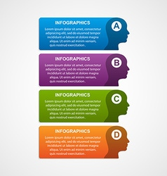 infographic template business silhouette head vector image