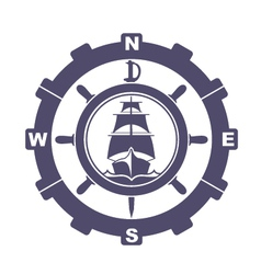 Nautical vintage icon vector image vector image