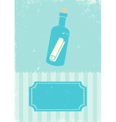 Sea bottle vector image vector image