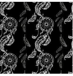 seamless pattern dreamcatcher vector image