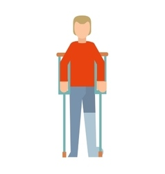 Trauma accident fracture human vector image