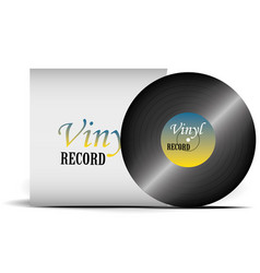 a realistic vinyl record with a cover disco vector image