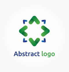 abstract arrows logo template direction icon vector image