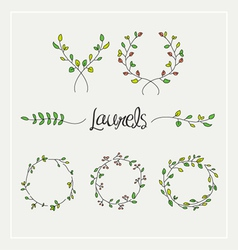 Laurels graphic set vector image