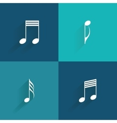 Abstract Music symbol vector image