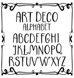 Art deco hand-written roman alphabet vector image
