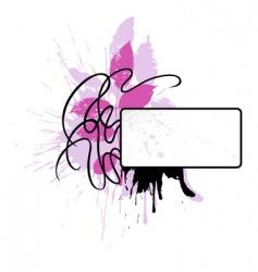 decorative vignette vector image vector image