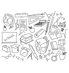 Doodle set of learning vector image vector image