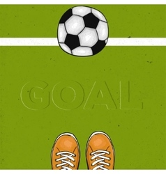 Football field with the word goal The sports vector image vector image