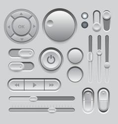 Gray web ui elements design vector