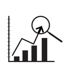 indicator of business on white background vector image vector image