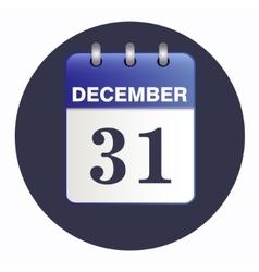 New-year sheet Desk calendar blue color vector image vector image