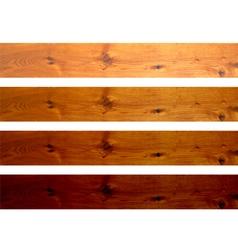Oak boards vector image
