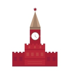 Spasskaya tower in Moscow Russia flat design vector image