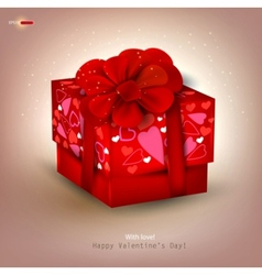 beautiful red gift vector image vector image
