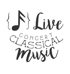 classical live music concert black and white vector image vector image