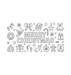 merry christmas horizontal banner xmas vector image vector image