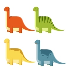 Set of Diplodocs vector image