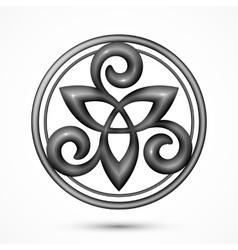 stone celtic triskel symbol vector image vector image