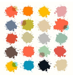 Transparent Colorful Retro Stains Blots Splashes vector image vector image