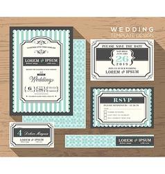 wedding card invitation set design Template vector image vector image