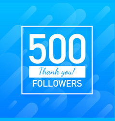 500 followers thank you social sites post thank vector