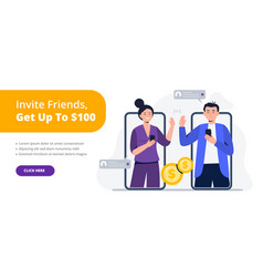 A couple friends give a high five vector