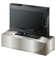 A flat screen television vector image