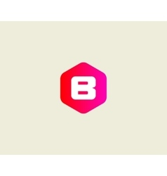 Abstract letter B logo design template Colorful vector