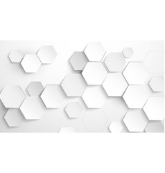 Abstract white hexagon background vector
