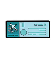 Airplane ticket icon vector