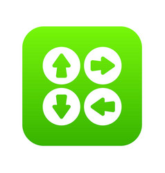 arrow set icon digital green vector image