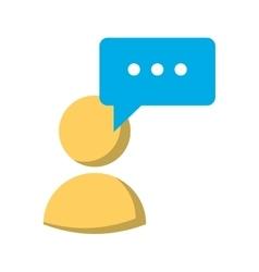 avatar speech bubble message media vector image