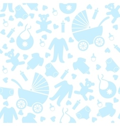 Baby clothes and toys vector