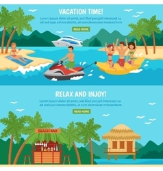 Beach banner set vector image