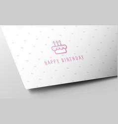 Birthday card mockup on white paper heart motifs vector